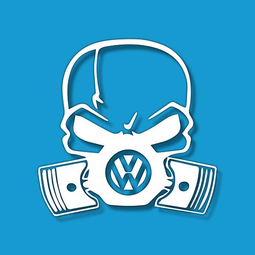 VW SKULL Sticker