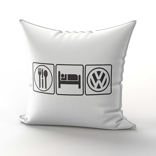 EAT, SLEEP, VW Pillow