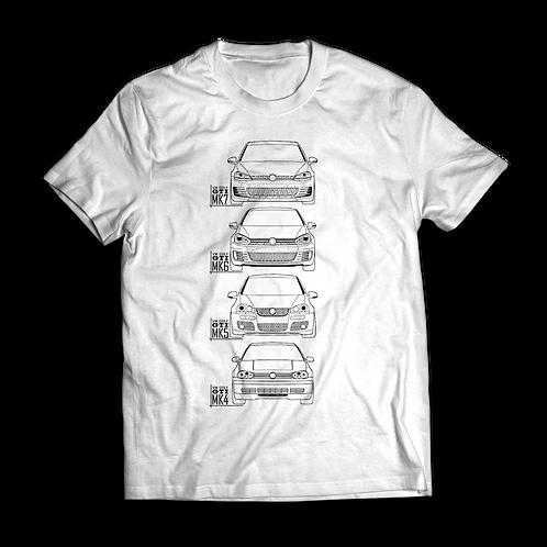 VW Golf MK7, MK6, MK5 ,MK4 GTI T-Shirt / Tee / Tshirt