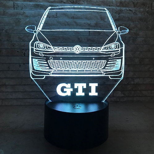 MK7 GTI 3D LED Lamp
