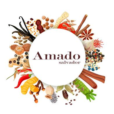 Logomarca para o Restaurante Amado Salvador 2018