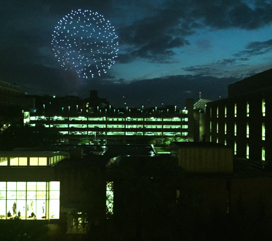 Fireworks outside the office!
