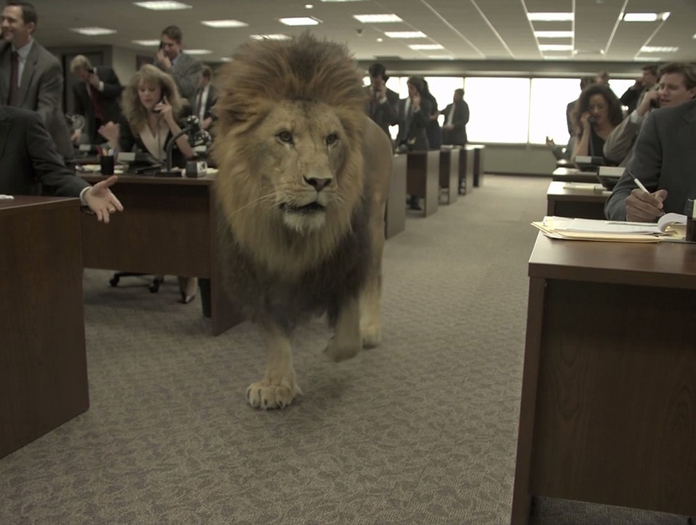 Lion on Trading Floor