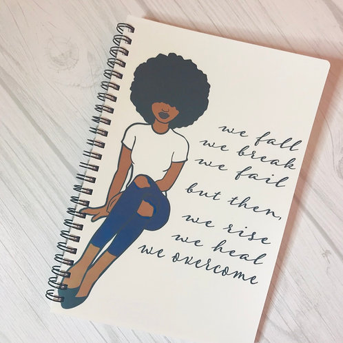 Heal, rise, and overcome Notebook
