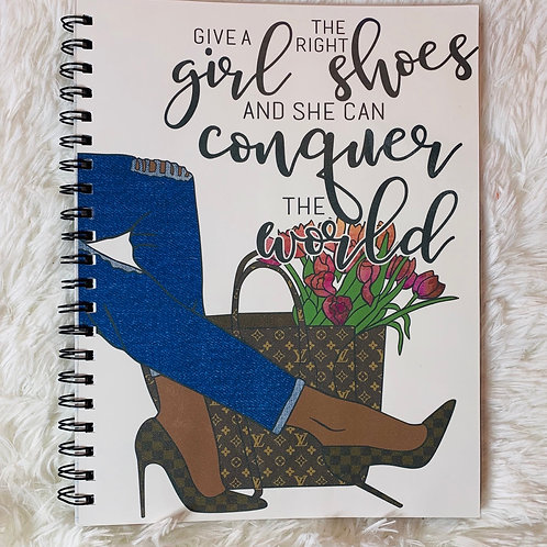 Conquer the World Notebook 8.5 x11 (60pgs)