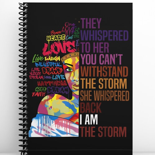 I Am The Storm 50 page Notebook
