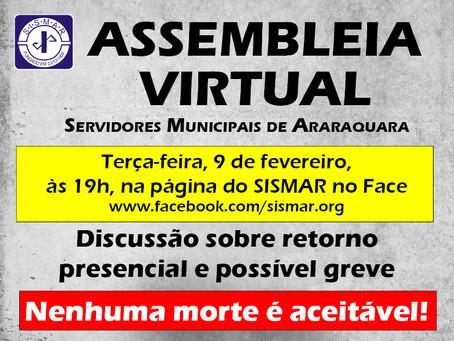Assembleia virtual vai debater retorno presencial em Araraquara