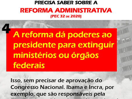 Reforma aumenta poderes do presidente da república