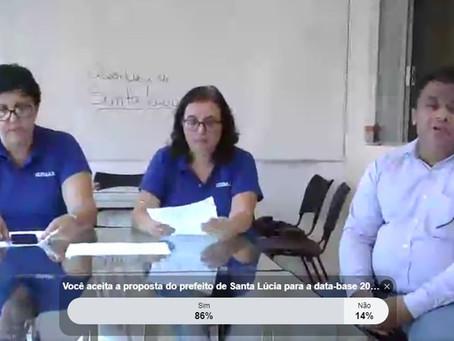 Servidores de Santa Lúcia encerram data-base com 25% de reajuste no tíquete