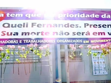 SISMAR e movimento grevista da Educação prestam homenagem a Queli Fernandes