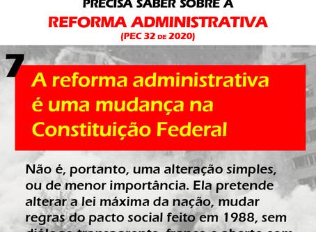 Reforma administrativa altera Constituição Federal sem debate com a sociedade