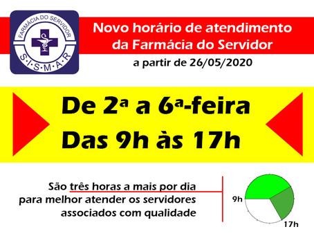 SISMAR amplia horário de atendimento da Farmácia do Servidor