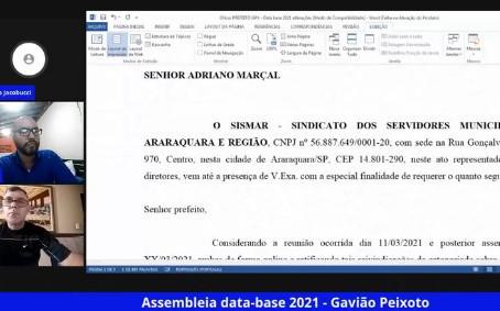 Servidores de Gavião Peixoto definem pauta de reivindicações para data-base 2021