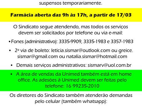 Funcionamento do SISMAR a partir de 8 de março/2021