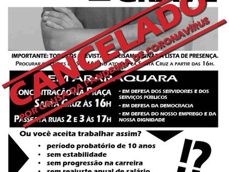 Dia 18 de março: é greve porque é grave