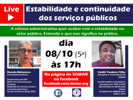 LIVE - Estabilidade e continuidade dos serviços públicos