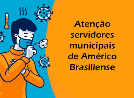 Américo: servidores dos grupos de risco que estejam trabalhando devem entrar em contato com o SISMAR