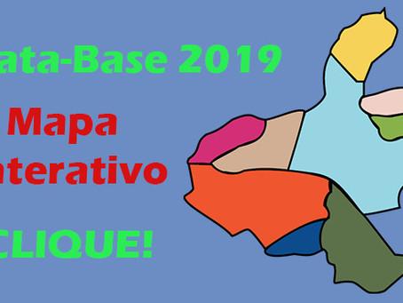 Mapa Interativo com detalhes da Data-Base 2019 em toda a região