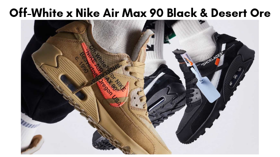 Off-White x Nike Air Max 90 Black & Desert