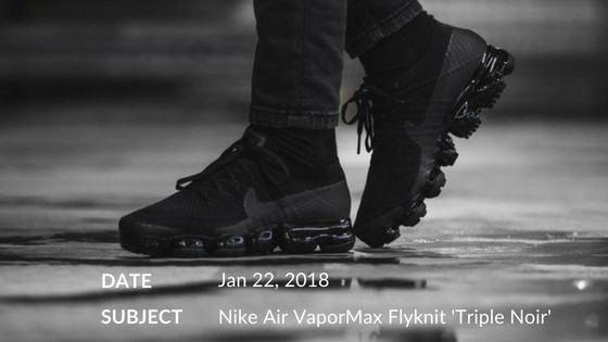 Nike Air VaporMax Flyknit 'Triple Noir