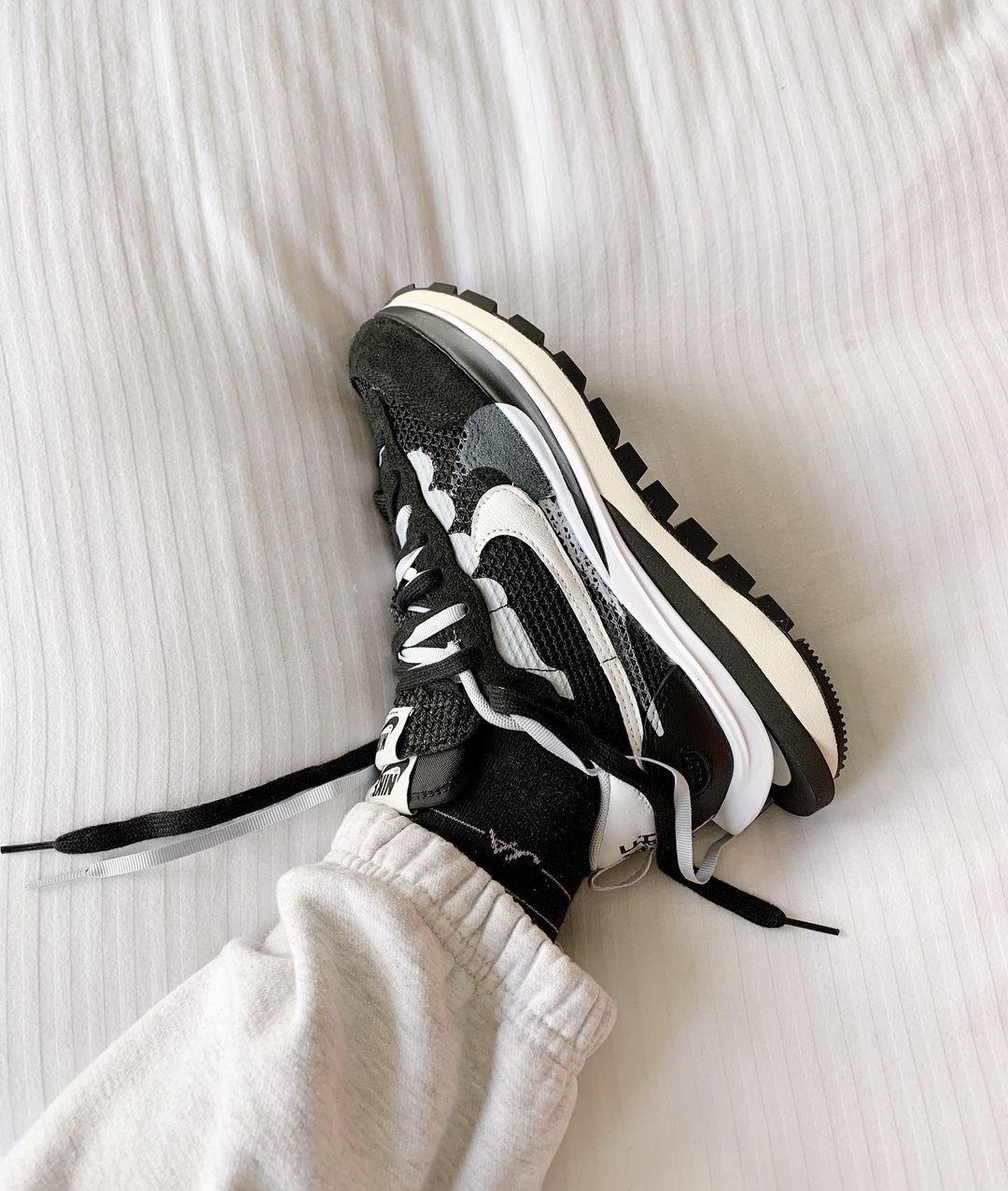 sacai x Nike VaporWaffle 'Black White'