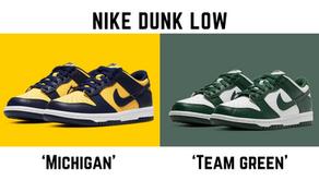 Nike Dunk Low 'Michigan' & 'Team Green'