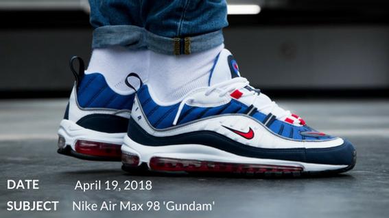 522b8ff4fc1681 Nike Air Max 98  Gundam