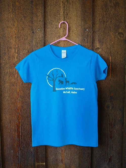 Women's Blue T-Shirt, New Wildlife Design