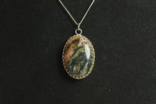 Canyon Jasper Sterling Silver Necklace