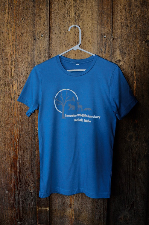 Men's Dark Blue T-Shirt, New Wildlife Design