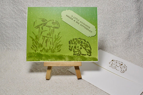 Hand-Crafted Hedgehog Card - Kindness