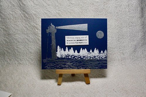 Hand-Crafted Lighthouse Card - Good Wishes