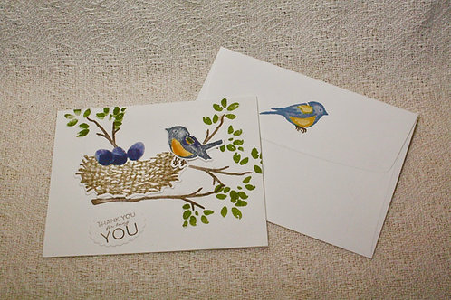 Hand-Crafted Bluebird Card - ThankYou for BeingYou