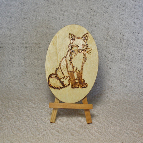Wood Burned Fox