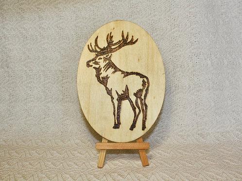 Wood Burned Elk
