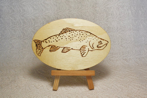 Wood Burned Trout