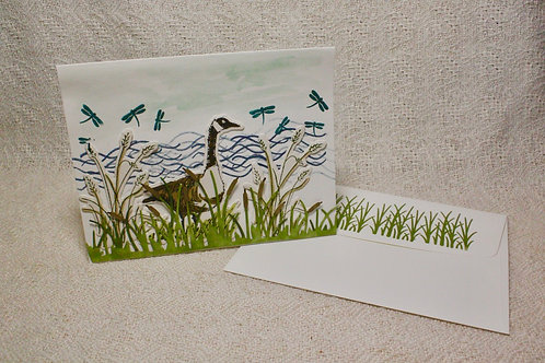 Hand-Crafted Goose Card