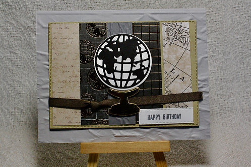 Hand-Crafted Global Traveler Card - Happy Birthday