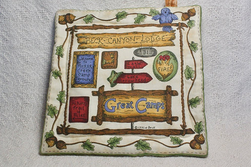 Country Cabin Pot Holder