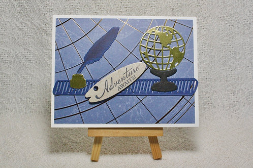 Hand-Crafted Global Traveler Card - Good Wishes