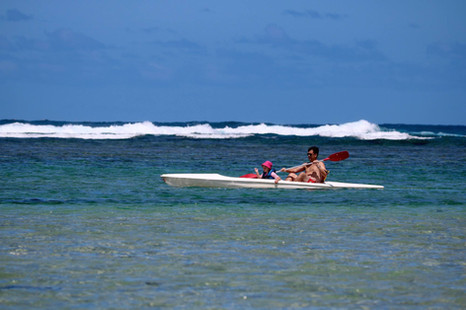 Kayak on the sea!