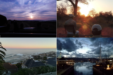 From sunrise to sunset!