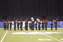 On field warm up at State