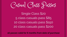 NEW CASUAL CLASS PASSES