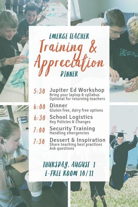 Teacher Training & Appreciation Dinner.j