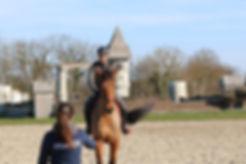 cheval à l'entrainement avec Océane DOUGNAC-GALANT sur le cross