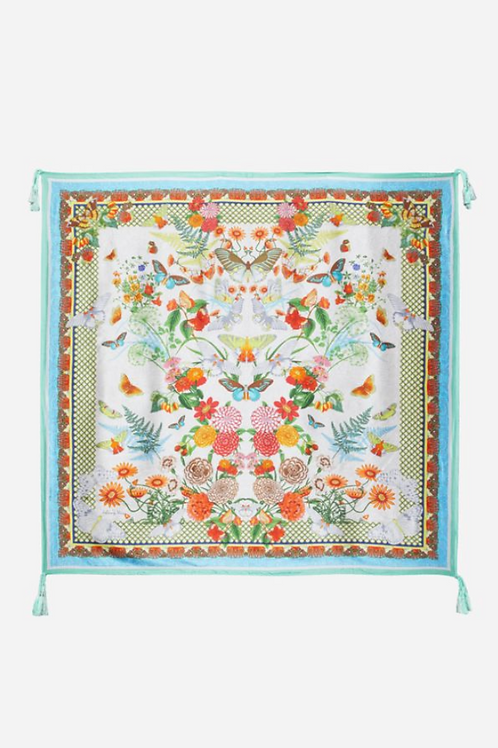 JOHNNY WAS Butterflies Silk Scarf