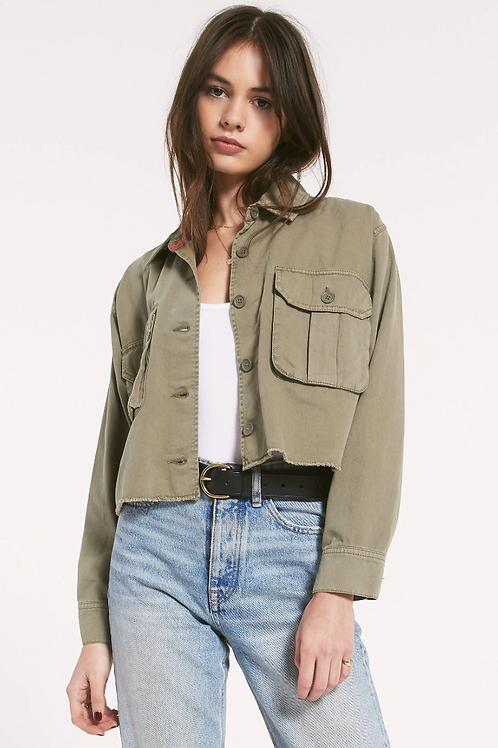 RAG POETS Cropped Military Jacket