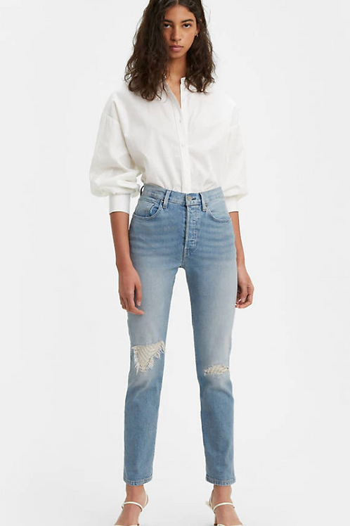 LEVI 501 High Rise Patch Work Jeans