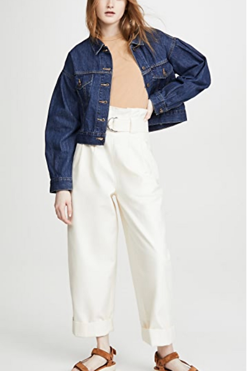 LEVI Pleat Sleeve Trucker Jacket